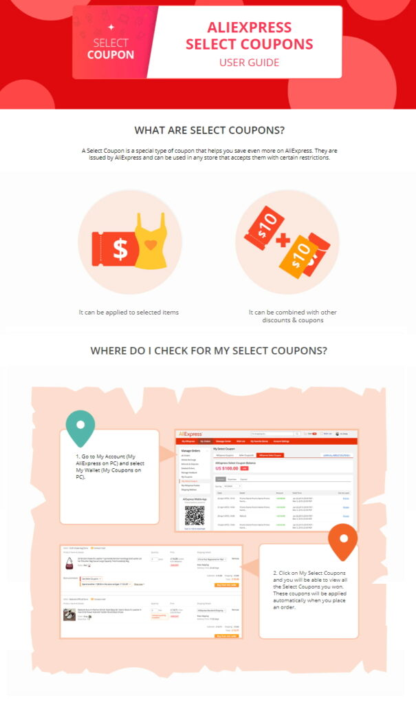 Full coupons and promotional code guide on Aliexpress