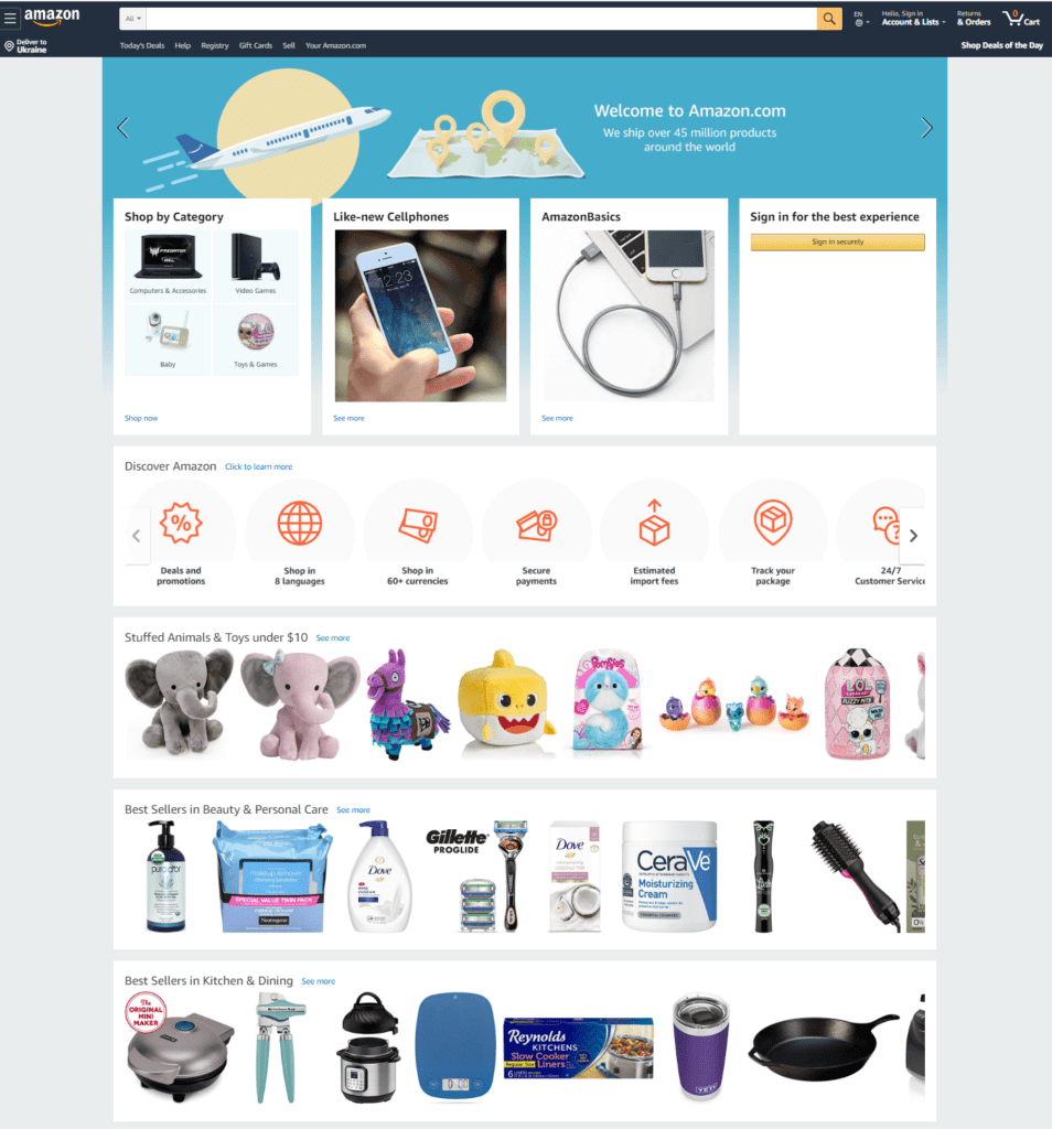 Amazon - step-by-step shopping instructions for the best online store on the planet